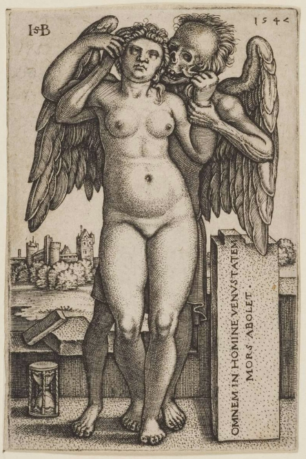 Fig. 10. Hans Sebald Beham. 1547. Death and the Standing Naked One.