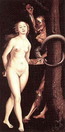 Fig. 8. Hans Balding Grien. c1512. Eve, the Serpent and Death.