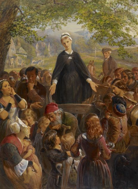Dinah Morris Preaching on Hayslope Green by Edward H. Corbould