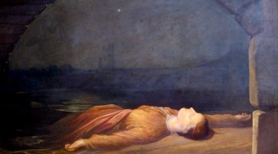 Found Drowned by George Frederic Watts (1848 - 1850)