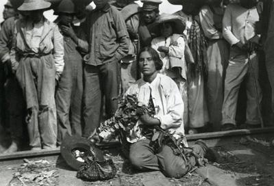 "Agustin Victor Cassola, 1915 photo of Maria Zavala, 'La Destroyer."""