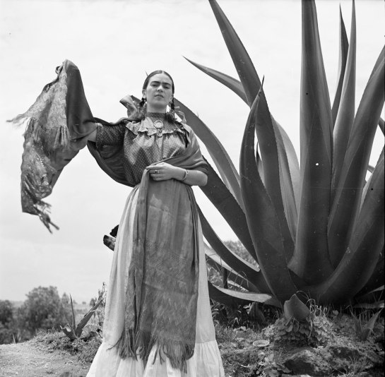 Frida Kahlo with Rebozo, Toni Frissell, 1937 Part of a series published in US Vogue. Photograph © The Frissell Collection, Library of Congress.