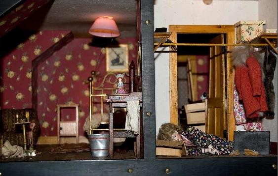 """Nutshell Study #3: Red Bedroom. The body of Marie Jones, prostitute"