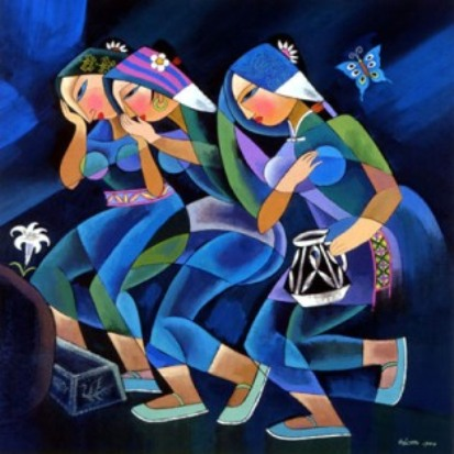 'Women Arriving at the Tomb', He Qi, 1999