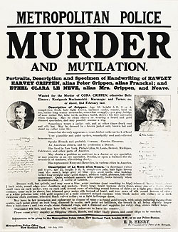 CRIPPEN WANTED POSTER