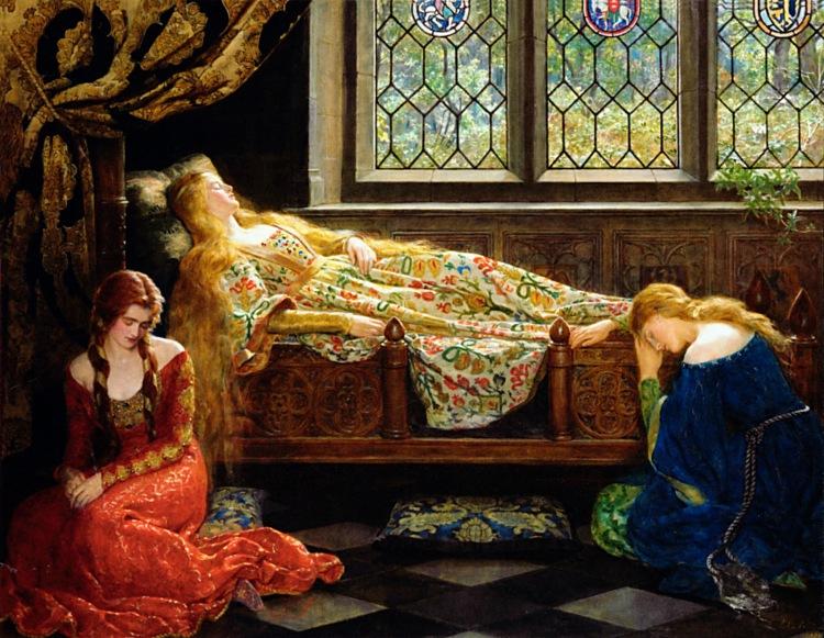 john-maler-collier-the-sleeping-beauty-1921