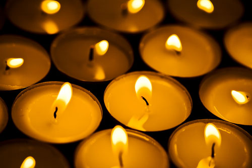 kaddish-prayer candles