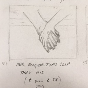 Rachel & Josh hold hands