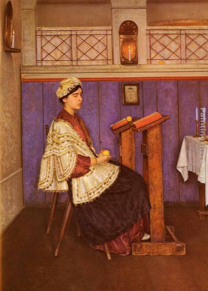 Young Woman in the Synagogue
