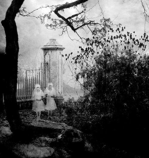 girl and graveyard